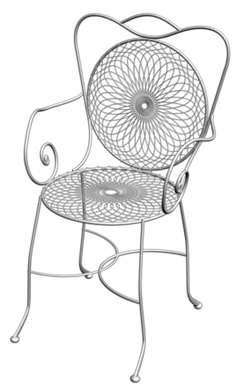 3ds max chair wrought iron