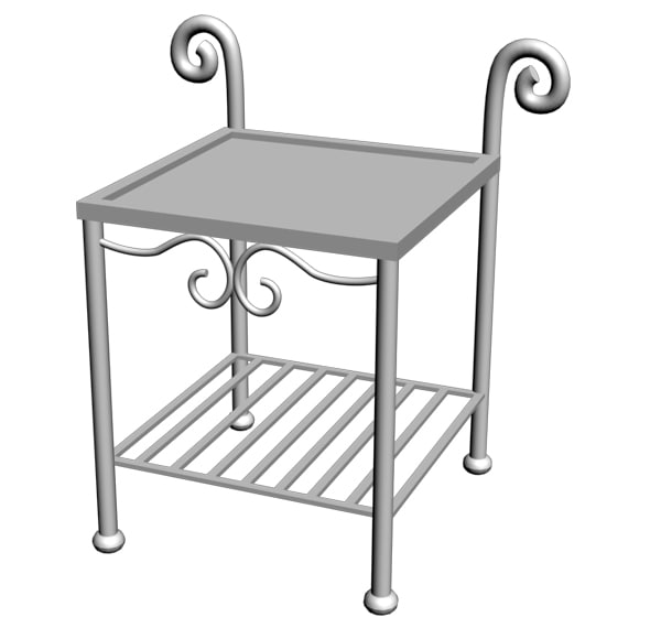table wrought iron max