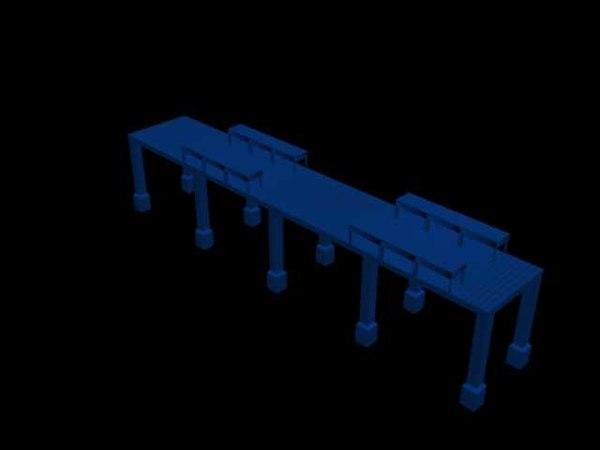 simple pier 3d max