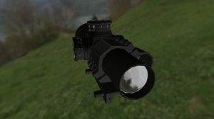weapon sights scope obj