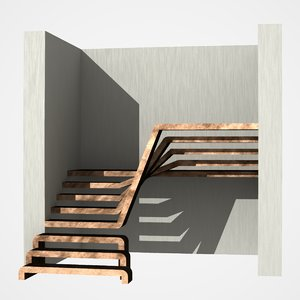 wooden staircase dxf