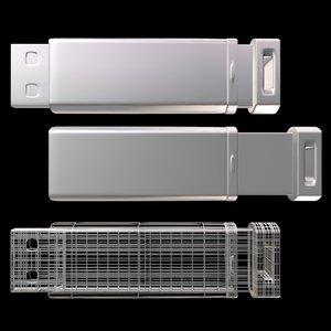 flash drive 3d model