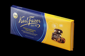 3d model karl fazer chocolate bar
