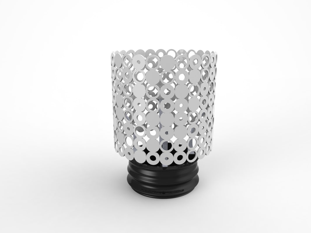 candle holder lamp shade 3d obj