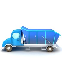 3d truck cartoon model