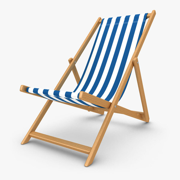 beach chair 02 3d model