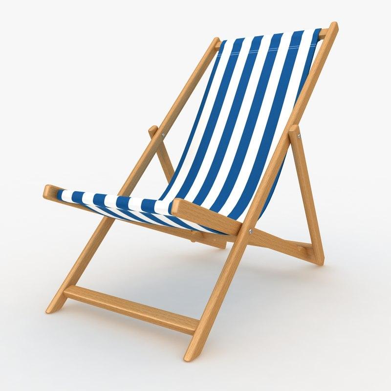 beach chair 02 3d model