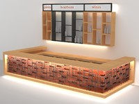 3d decorative bricks pipes bar