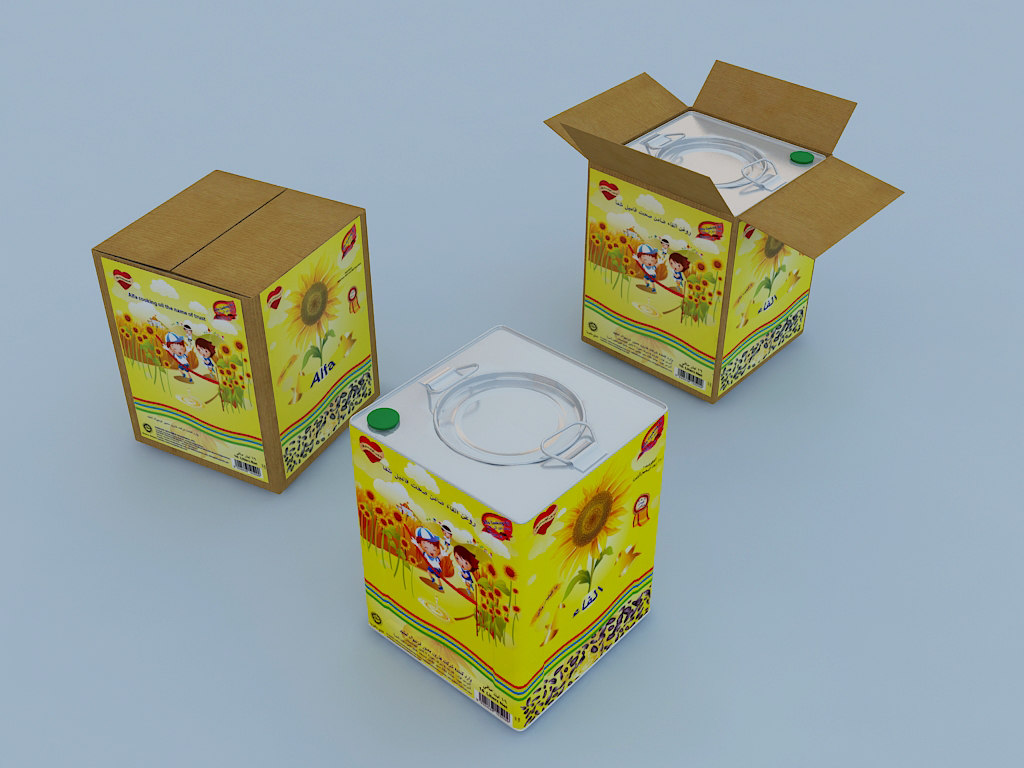3d cooking oil cans model