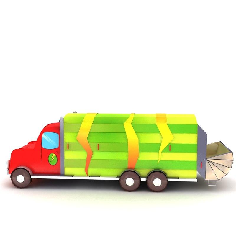 cartoon garbage truck max