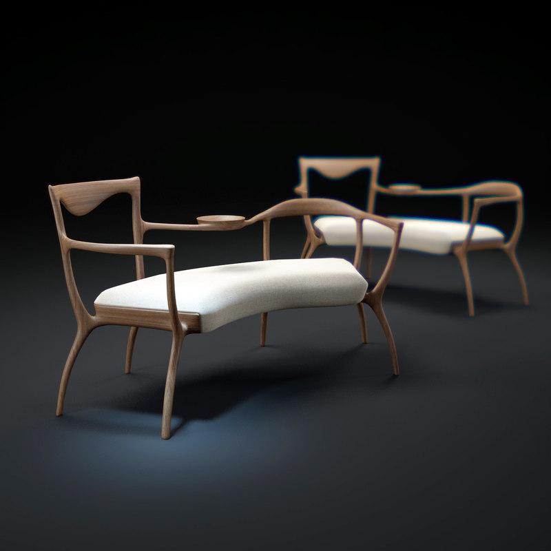 3d slow-wood-armchair model