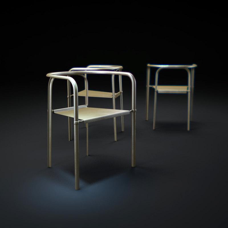 split-chair 3d max