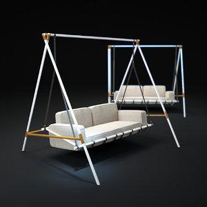 3d model sweet-swing-seats