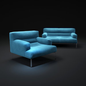 lazy-bastard-lounge-chair-and-sofa 3d model