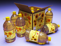 cooking oil bottles 3d model