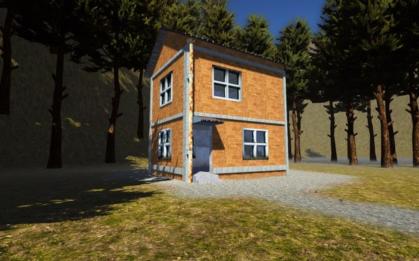 story brick house obj