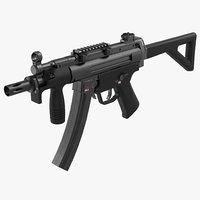 Assault Rifle MP5K 3D Model