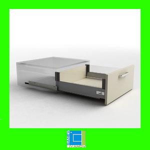 hettich innotech 144mm design 3d model