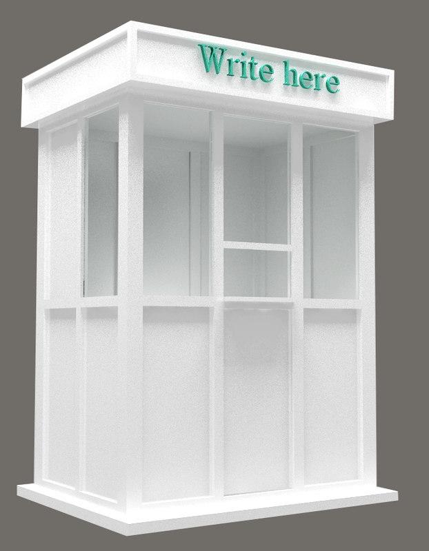 3d model of stall info point