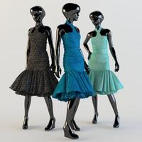 3d model evening dress