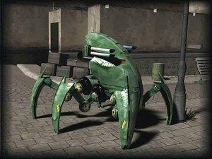 tank robot 3d max