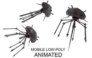 low-poly microrobot 3d x