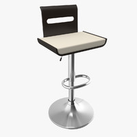3d viera bent-wood adjustable bar stool model