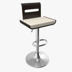 3d viera bent-wood adjustable bar stool model