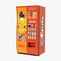 Fanta Vending Machine 3D Model