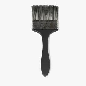 3d model rusty paint brush