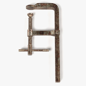 3d rusty clamp model