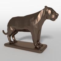3d model tiger statue