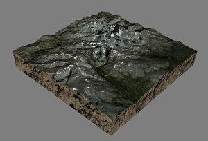 obj mesh bomber mountain