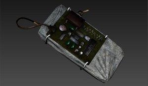 bomb remote 3d model