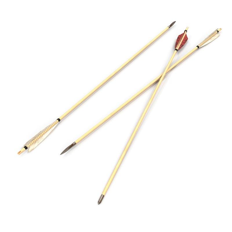 bow arrows set 3d model