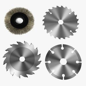 3d model of machine discs