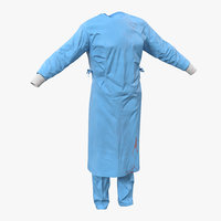 surgeon dress 11 blood 3d max