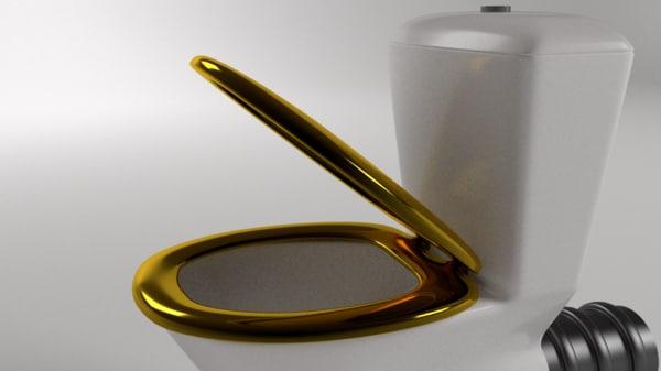 3d model pan toilet