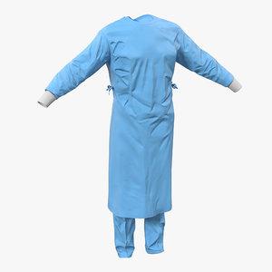 surgeon dress 11 modeled c4d