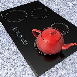 3d model electrolux cooktop