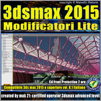 Video Corso 3ds max 2015 Modificatori Lite vol.8.1 cd front