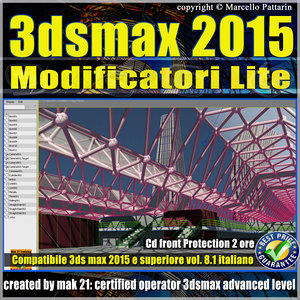 Video Corso 3ds max 2015 Modificatori Lite vol.8.1 cd front