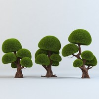 Cartoon trees set