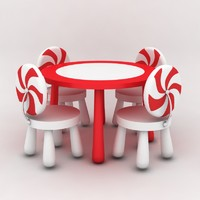 table chairs kids 3d max
