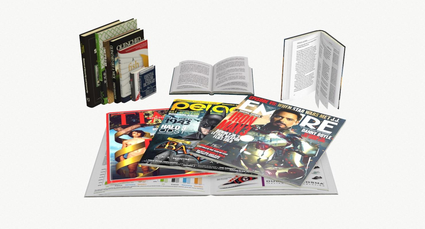 books magazine 3ds
