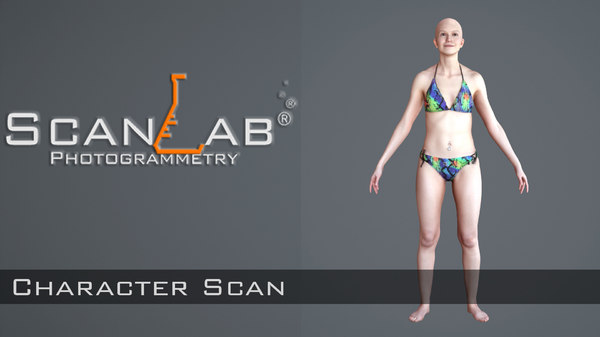 3d model female body scan -