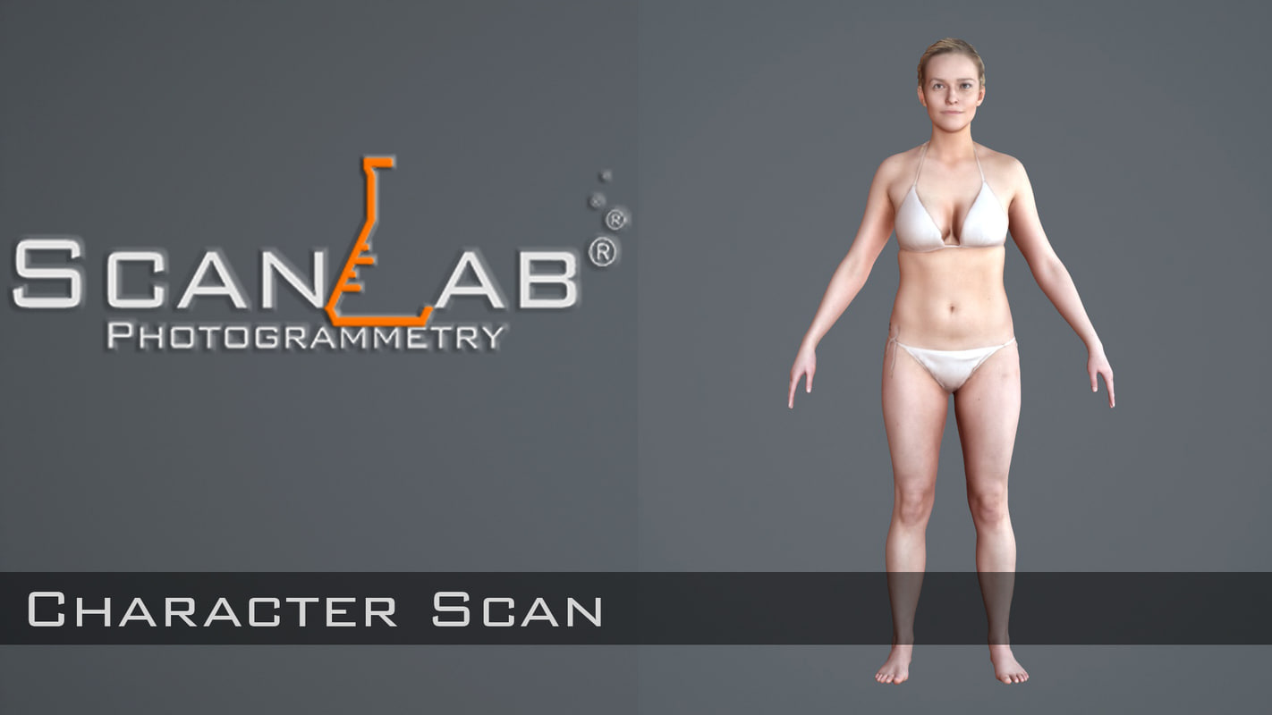 3d model lisa female body scan