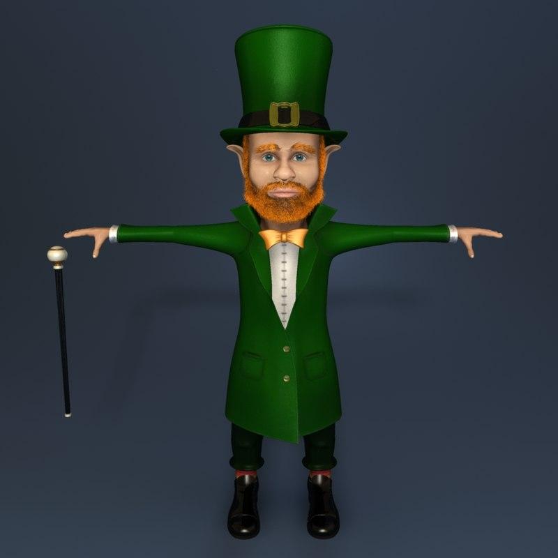 3d leprechaun rigged hat