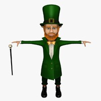 3d leprechaun rigged hat
