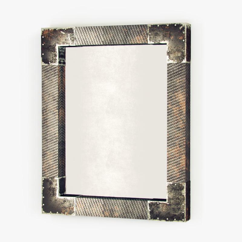 3d industrial loft mirror